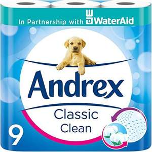 Andrex Classic Clean Toilet Tissue, 90 Rolls £20 + £3.99 delivery @ Amazon Prime Now