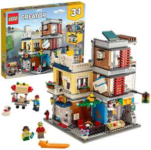 LEGO 31097 Creator 3-in-1 Townhouse Pet Shop and Cafe Building Toy Brickset with 3 Minifigures £51.97 @ Amazon