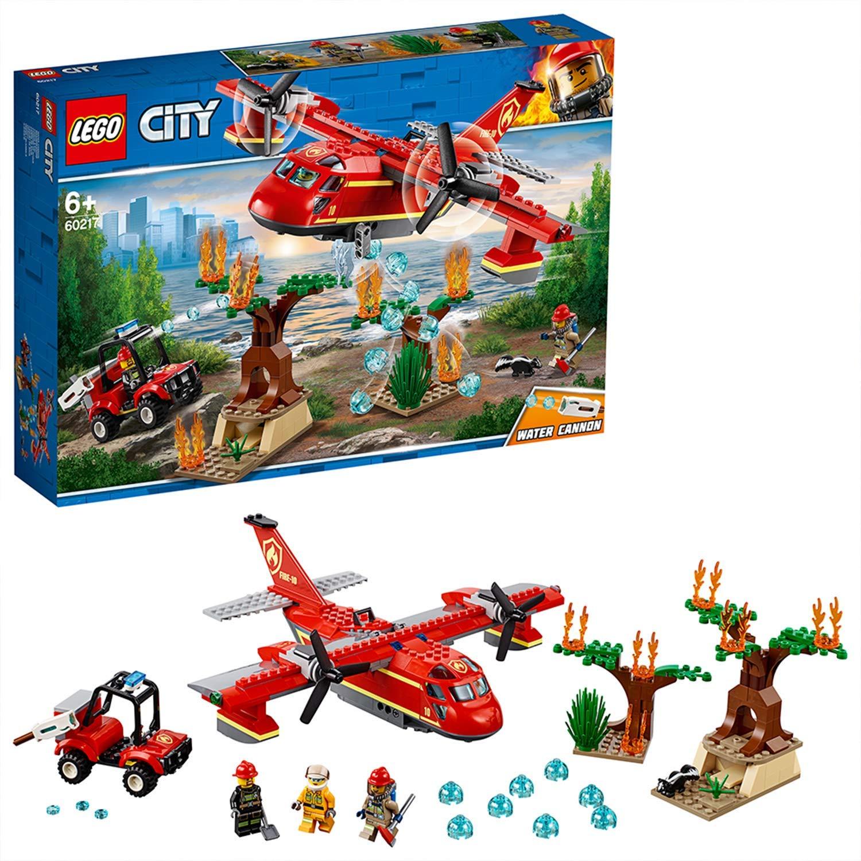 LEGO 60217 City Fire Fire Plane Toy Aeroplane Set with Buggy, 3 Firefighter Minifigures, Skunk Animal Figure £22.99 @ Amazon
