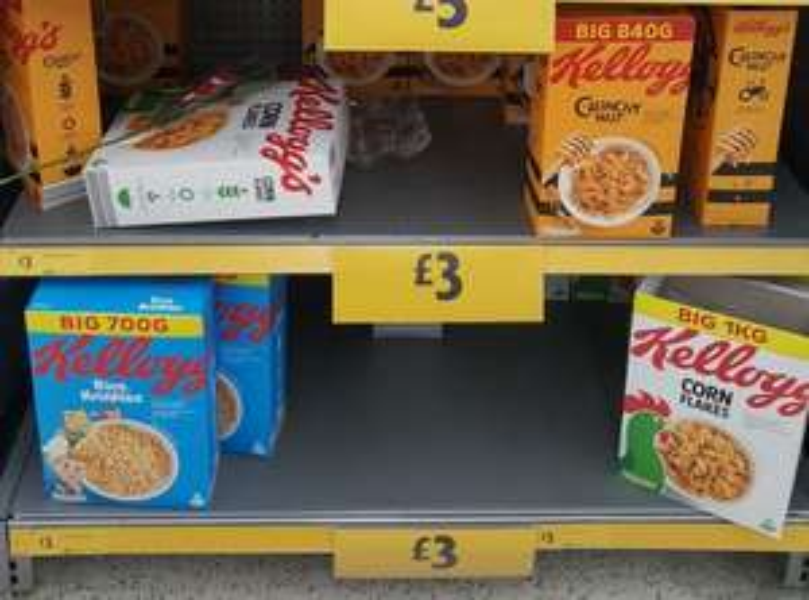 Kellogg's Crunchy Nut 840g / Kellogg's Corn Flakes 1kg / Kellogg's Rice Krispies 700g £3 at Morrison's