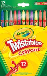 CrayolaTwistables Crayons, Pack of 12 - Multicolour £2 at Amazon