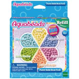Aquabeads - Pastel Solid Bead Refill Pack now £1.79 (Prime) + £4.49 (non Prime) at Amazon