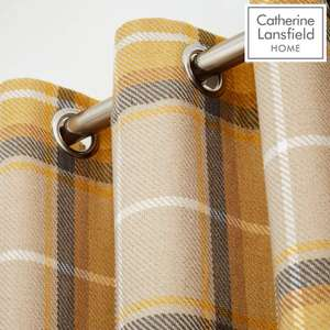 """Catherine Lansfield 90"""" x 90"""" eyelet curtains at Amazon for £30"""