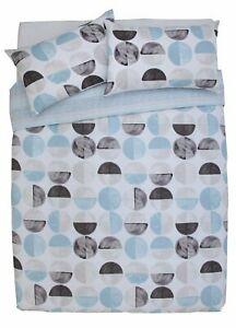 Argos Home Blue Circles 144 Thread Reversible Bedding Set - Kingsize - £7.99 Delivered @ Argos on eBay