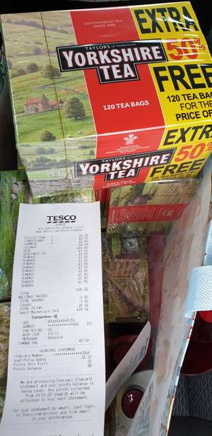 Yorkshire tea 120 bags for £1.50 at Tesco instore