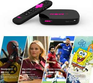 NOW TVSmart Box with 4K & Voice Search - 4 NOW TV Pass Bundle - £24.99 at Currys PC World