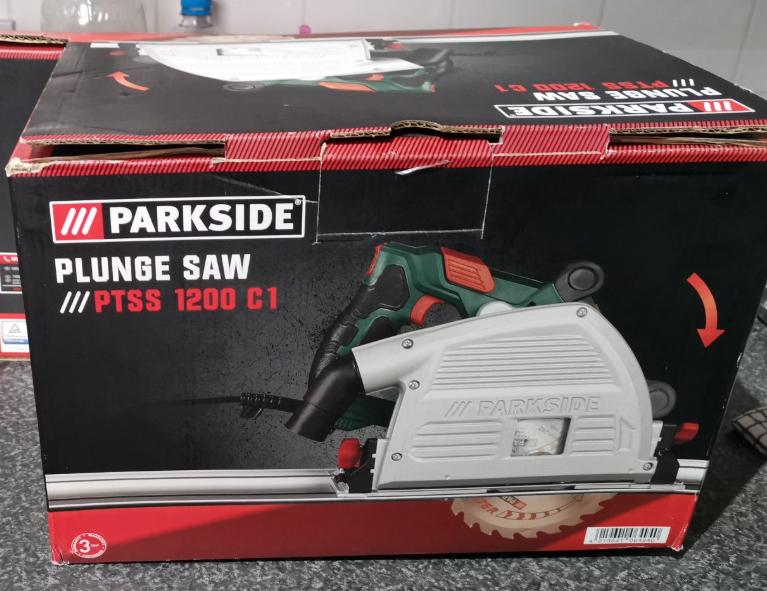Parkside plunge saw ptss 1200 c1 £34.99 at Lidl Sheffield
