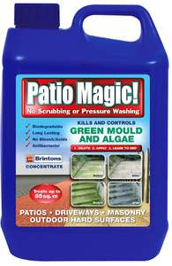 Patio Magic Concentrate Ideal for Patios, Paths & Driveways, Multicolored, 2.5 liters - £6 (prime)/ £10.49 (non prime) @ Amazon