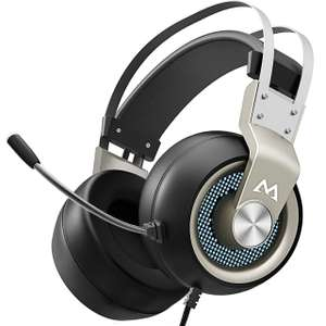 Gaming Headset with 50mm Drivers, Stereo Surround Sound - £19.99 Prime / +£4.49 non Prime Sold by Mpow Store and Fulfilled by Amazon