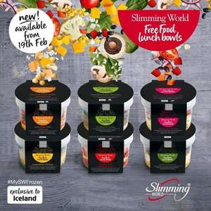6 New Slimming World Lunch Bowls - £2.50 @ Iceland
