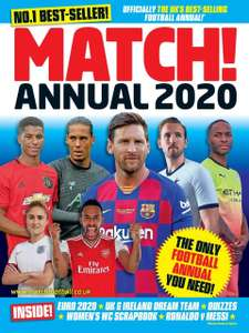Match Annual 2020 (Annuals 2020) Hardcover £1 (Prime) + £2.99 (non Prime) at Amazon