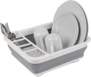 Beldray LA031051 Foldable Collapsible Dish Draining Board, Crockery and Cutlery Holder, Grey / White £6.88 + £4.49 NP @ Amazon