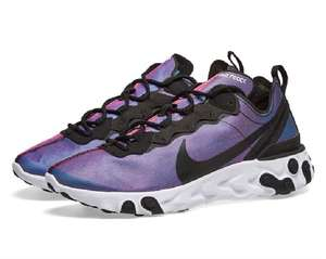 Womens Nike React Element 55 Trainers now £59 sizes 3 up to 9.5 (various colours) @ End Clothing Free Delivery