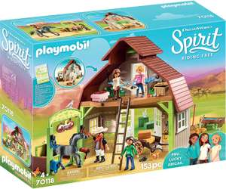 Playmobil DreamWorks Spirit 70118 Barn with Lucky, Pru and Abigail £29.99 @ Amazon