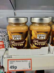 Kernel King Peanut Butter in a jar 340g - £0.49p in-store @ Poundstretcher (Liverpool)