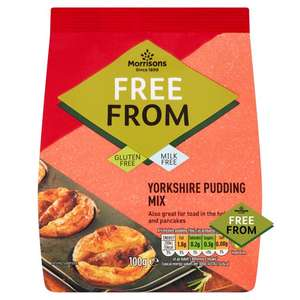 Morrison's Free From Yorkshire Pudding/Pancake Mix (100g) - 15p each!
