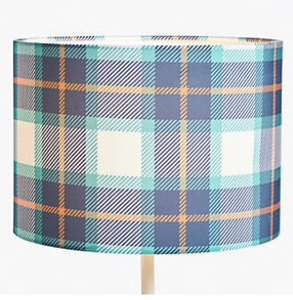 Little Home at John Lewis Check Lampshade, Multi - £5 @ John Lewis & Partners (+£2 Click & Collect)