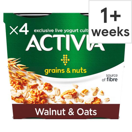 Activia Grains & Nuts Walnuts & Oats Yogurt 4x120g - £1.30 at Tesco