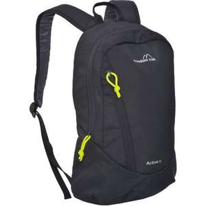 Day backpack 10L.available in Black, Purple and Teal. £2.40 with 20% off code, larger size £4 other styles too. @ GoOutdoors