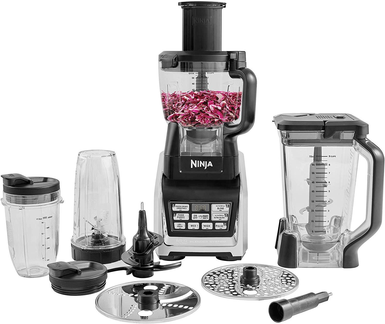 Ninja Food Processor [BL682UK2] Auto-iQ, 1500 W, Black and Silver £142.49 at Amazon