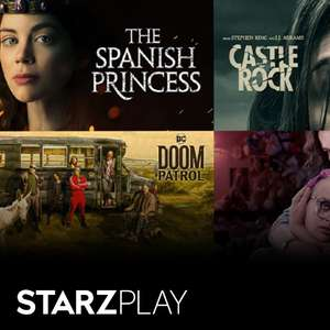 Amazon Prime Video Channels - Starzplay 99p per month for 3 months / Then £4.99 per month @ Amazon