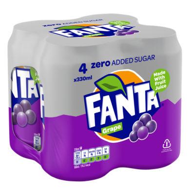 Fanta Grape Zero Cans 4 Pack £0.79 @ HeronFoods
