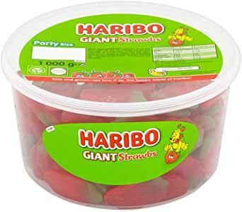HARIBO Giant Strawberry Bulk Sweets 1kg £4 (+£4.49 Non Prime) at Amazon