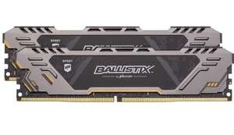 Crucial Ballistix Sport AT BLS2K16G4D32AEST 3200 MHz, DDR4, DRAM, Desktop Gaming Memory Kit, 32GB (16GBx2), CL16 - £120 @ Amazon