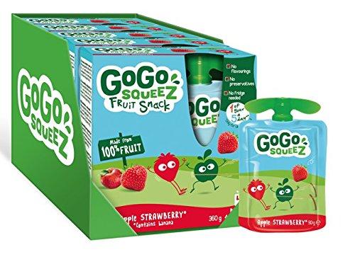 20x 90g GoGo squeeZ Apple Strawberry Puree Pouches £5.75 (+£4.49 Non Prime) @ Amazon