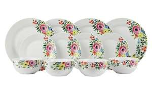 Cote d'Azure 12 Piece Porcelain Dinner Set, now £18.75 + Free Click & Collect @ Argos