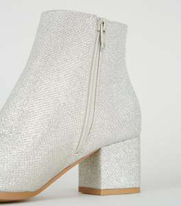 Girls Silver Glitter Block Heel Ankle Boots £10 + £1.99 c&c at New Look Shop