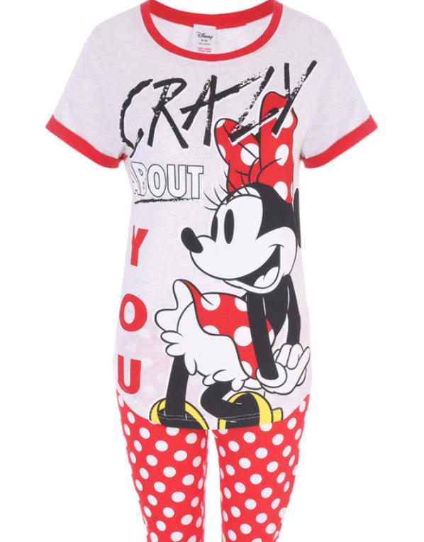 Womens Minnie Mouse Pyjama Set £15 at Peacocks