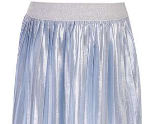 Younger Girls Blue Shine Pleated Skirt £5 at Peacocks