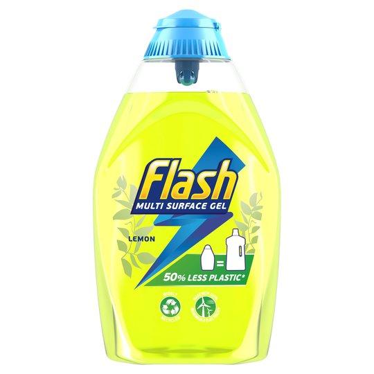 Flash Multi Surface Gel Cleaner Cherry Blossom Or Lemon 600Ml On Offer £1.50 @ Tesco
