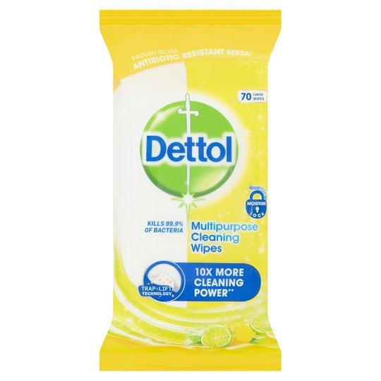 Dettol Multi Purpose Citrus Wipes 70S On Offer £1.75 @ Tesco