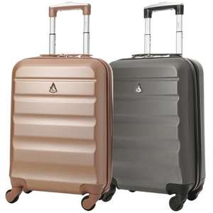 Set of 2 Aerolite (55x35x20cm) Lightweight Hard Shell Cabin Hand Luggage Cases £44.00 delivered @ Packed Direct