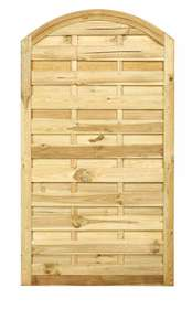Arch Top Solid Wood Gate £36 (from £60) size 1800mm x 900mm at The Garden Trellis