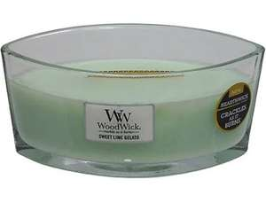 Woodwick Sweet lime gelato hearth wick candle only £13.49 Boots ashton under lyne