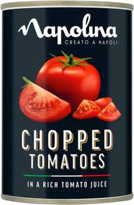 Napolina Chopped Tomatoes, 400 g, Pack of 12 £0.54 (+£3.99 Delivery) @ Amazon Pantry