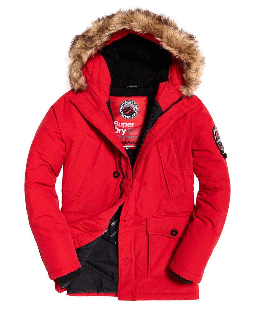 Superdry Mens Everest Parka Jacket - Red - £65 @ Superdry Shop