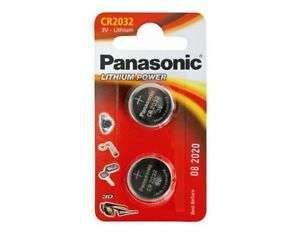 2X Panasonic CR2032 3V for Car Key Fob/Remote plus 10% to charity - £1 Delivered @ eBay / dillh