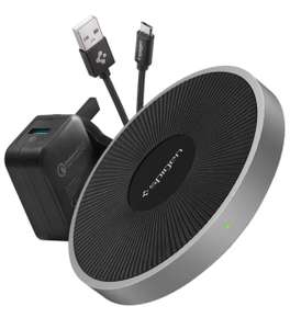 Spigen Fast Wireless Charger QC Quick Charge 3.0 Power Adaptor Included - £13.99 Sold by: Spigen Dispatched by: Amazon (+£3.49 non Prime)