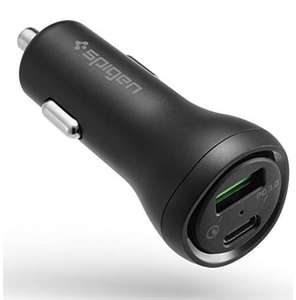 Spigen SteadiBoost QC+PD USB C Car Charger - £8.99 Prime sold by Spigen and fulfilled by Amazon (+£3,49 non Prime)