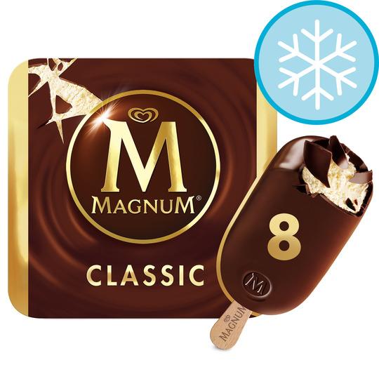 Magnum Classic or White Ice Cream 8X110ml £3 / Oreo Ice Cream Sandwich 6 X 55Ml £1.49 @ Tesco