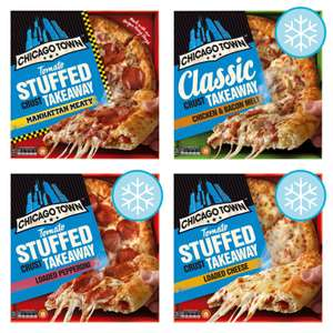 Chicago Town Large Takeaway Pizzas(All Varieties Manhattan Meaty Pizza 655g /Chicken & Bacon /Cheese /Pepperoni /Sweet Cola) - £2.50 @ Tesco