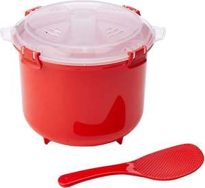 Sistema Microwave Rice Cooker, 2.6 L - Red/Clear £6.69 (Prime) / £11.18 (non Prime) at Amazon