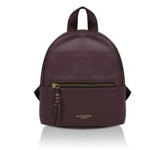 Kurt Geiger - 'Emma' Small Leather Backpack in Wine - £39 / £36.15 with student code Via Shoeaholics (inc. £3 Standard Delivery Charge)