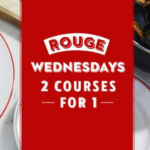 2 for 1 on food at Cafe Rouge on Wednesdays after 5pm