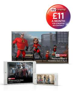 Sky Cinema £11 a month for 12 months at Sky Digital