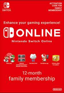 Nintendo Switch Online 12 Month Family Membership (Up to 8 accounts) £23.85 @ ShopTo